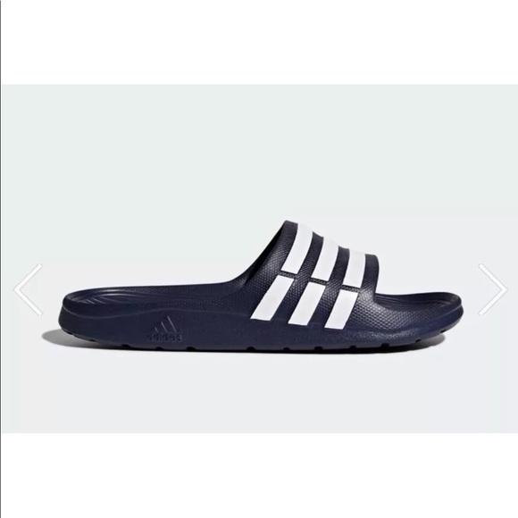 Scarpe sz 11 adidas duramo slide Uomo blu navy nwt poshmark